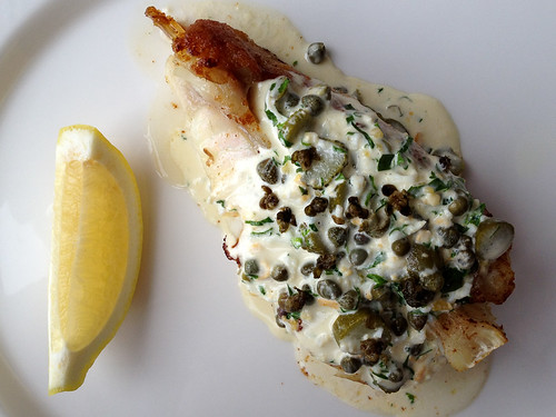 Oven Roasted Turbot on the Bone with Tartare Sauce