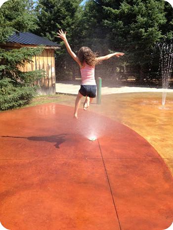 Water fun at Saunders
