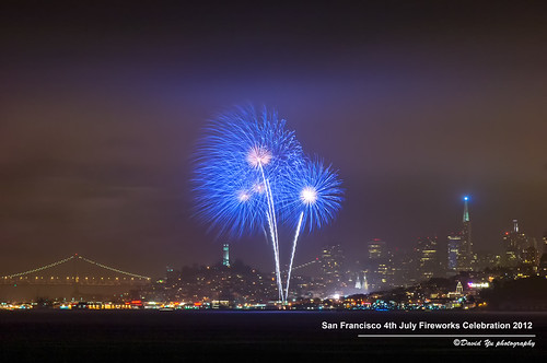 San Francisco 4th July Fireworks Celebration 2012 by davidyuweb