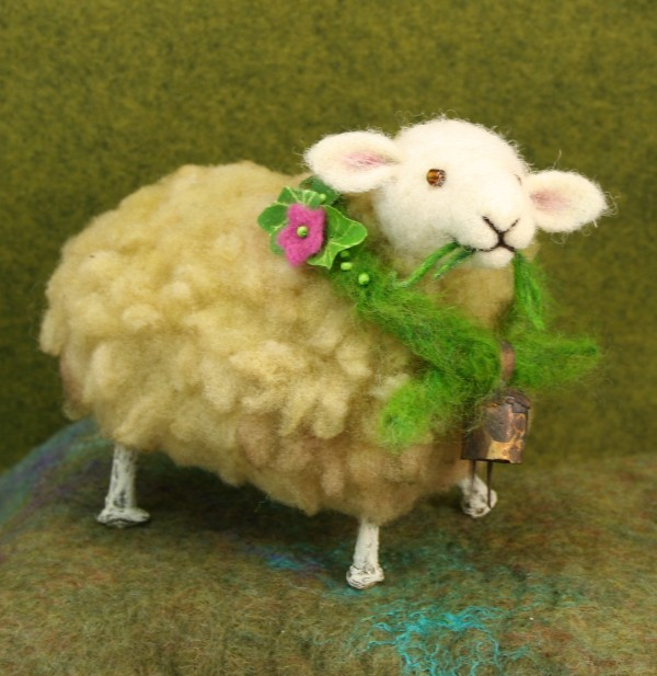 Beatrice - Twig Sheep - needle felted