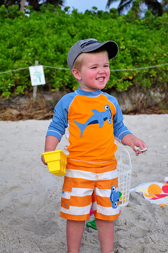 Noah Enjoying the Beach