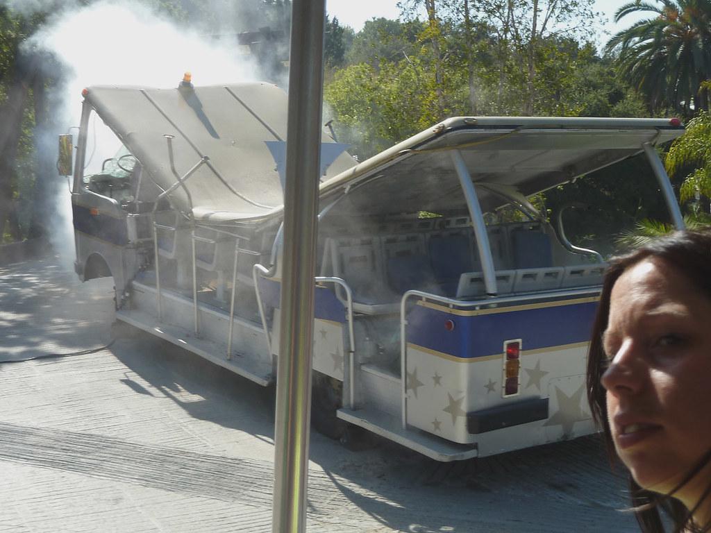 Universal studio tour Это наш вагон после посещения аттракциона 3д кинг-конг