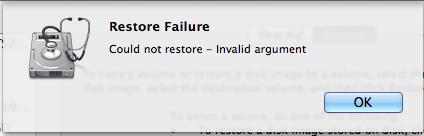 restore failure