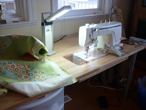 new sewing table