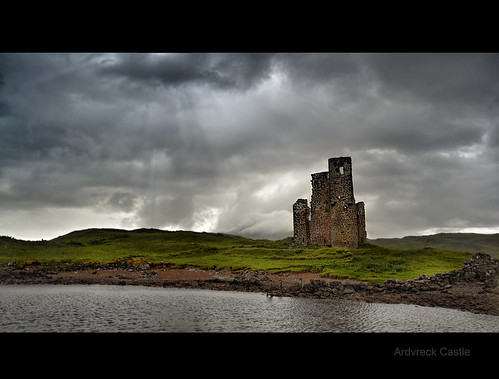 storm rain clouds photography scotland highlands nikon ruins scottish loch assynt d3100