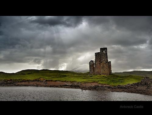 storm rain clouds photography scotland highlands nikon ruins scottish loch assynt d3100