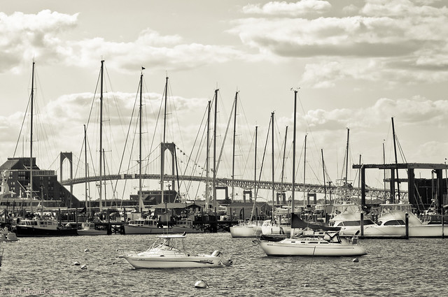 Newport in Black and White