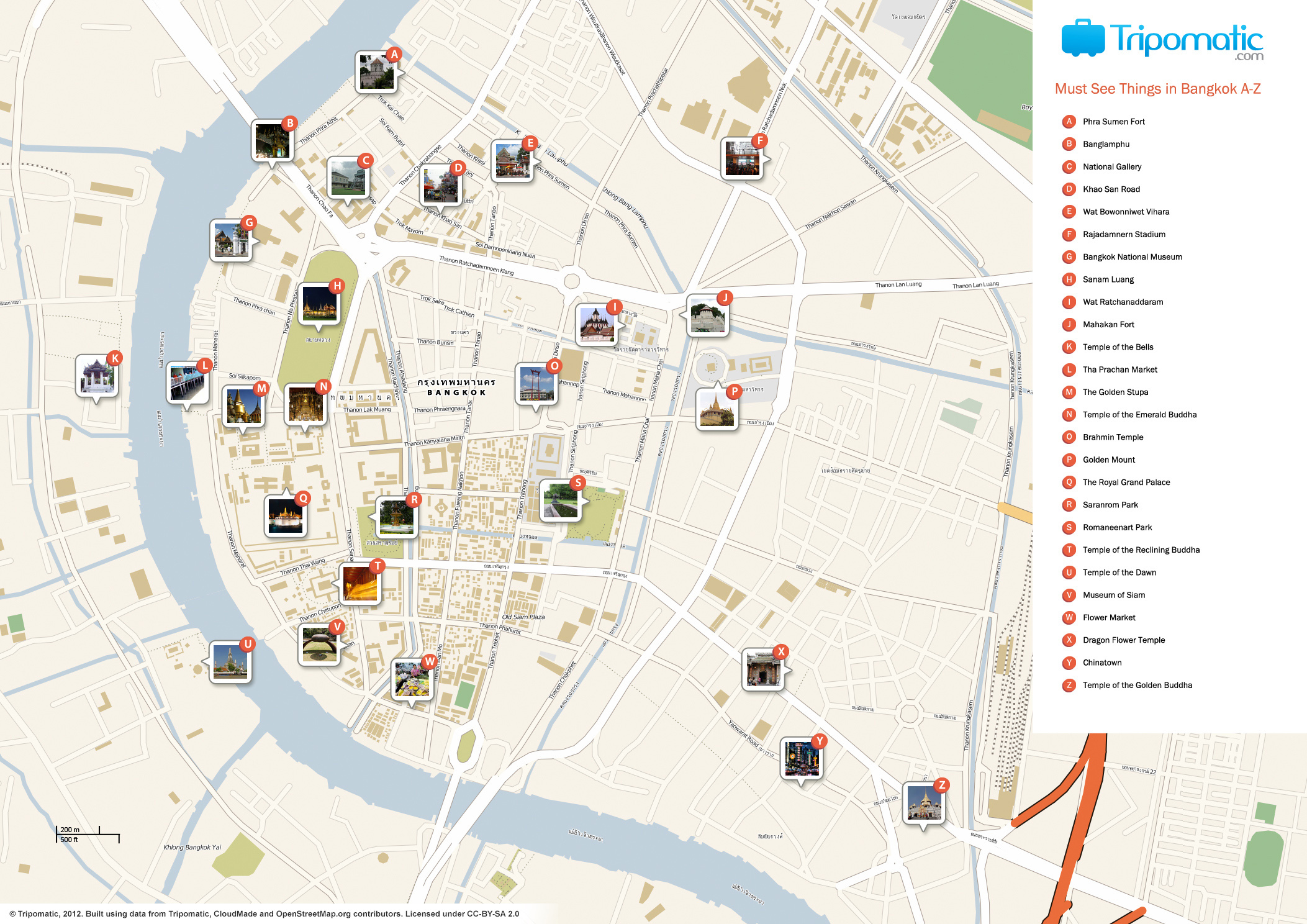 {Bangkok Map With Tourist Spots Pdf – Bangkok Tourist Map Pdf