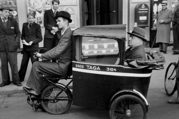 Danish Bicycle History - Taxi