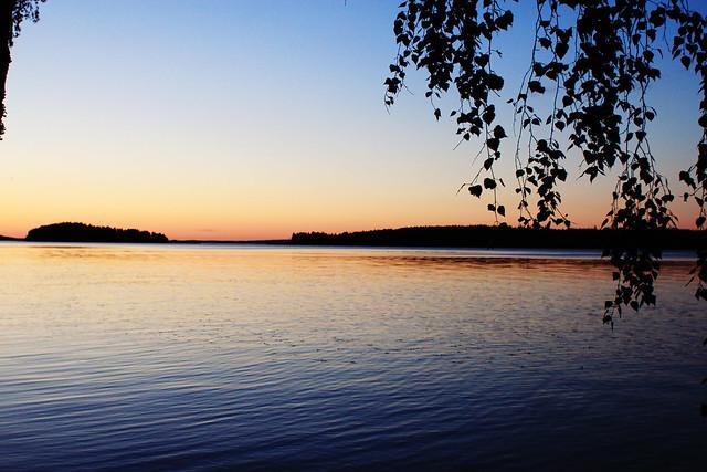 Lake at midnight