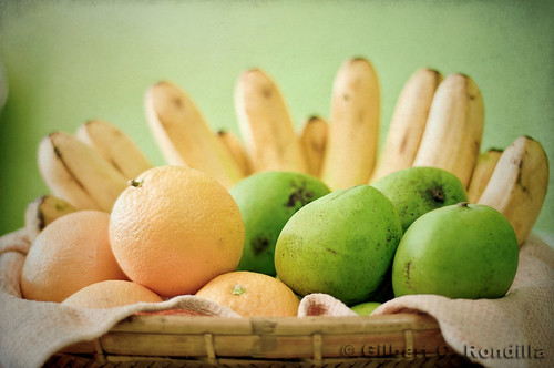 Oranges, Indian Mangoes and Bananas