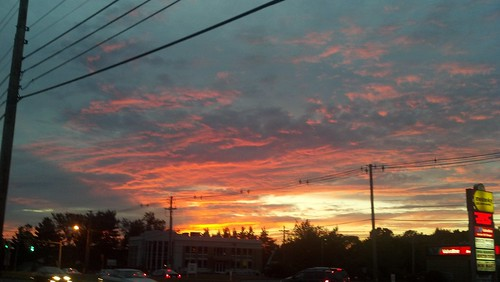Shrewsbury, MA sunset