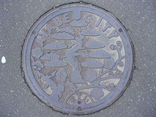 Ayabe Kyoto manhole cover 2 (京都府綾部市のマンホール2)