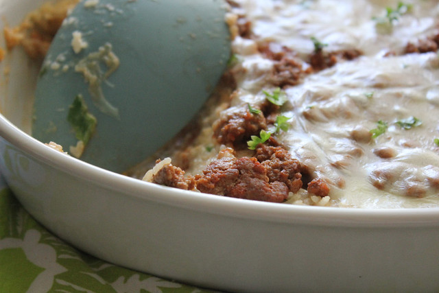Sour Cream Beef & Rice Bake