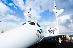 SpaceShipTwo Replica at Farnborough. Photo by Mark Chivers