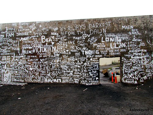 The public wall at Komafest