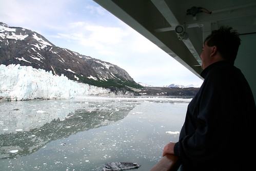 Mike Looking at Margerie Glacier