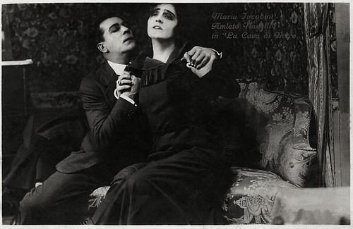 Maria Jacobini and Amleto Novelli in La casa di vetro