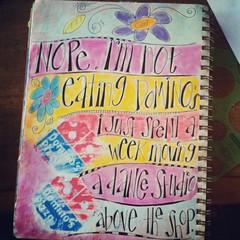 working in my summer journal