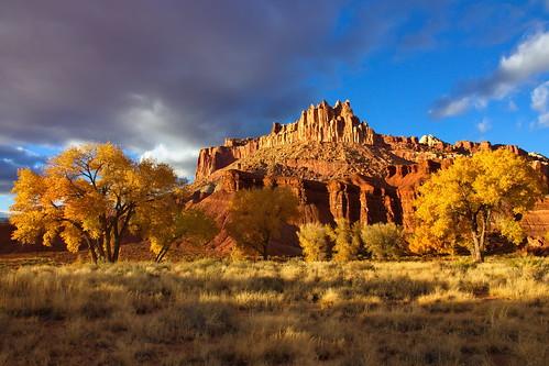 autumn sunset fall utah sandstone southernutah capitolreefnationalpark