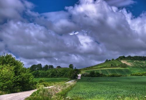 blue summer sky nature weather landscape denmark corn cornfield exposure pentax dänemark thunder frederikshavn landskab kattegat sæby vejr nordjylland vendsyssel pervisti