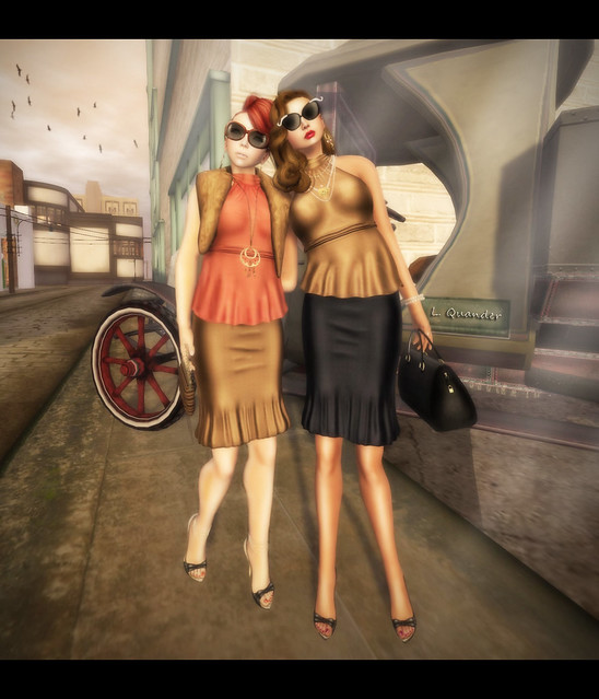 Suri and Lila  in Vintage Fair Baiastice_Corsage Mesh Halter-neck Tops and Lian Mesh Longuette Skirts -  Part 2