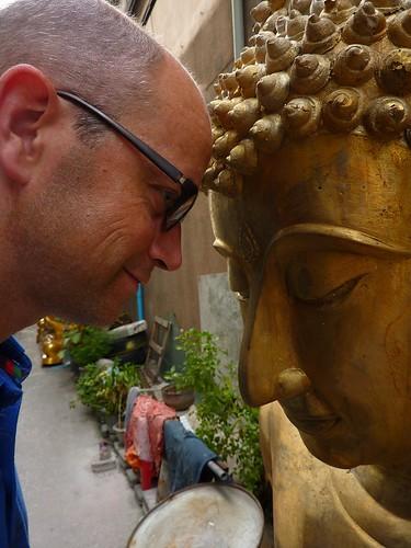 Me close to Buddha