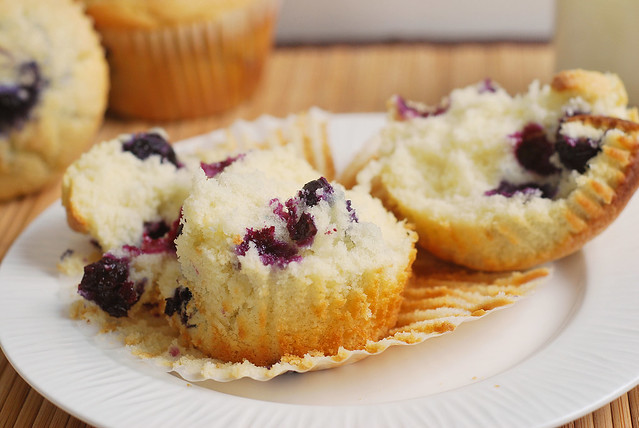 Blueberry Muffins - the perfect soft and fluffy blueberry muffin recipe! Just like the ones from your favorite bakery!