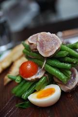 Salad Nicoise with rare Yellowfin Tuna AUD24 - clo…
