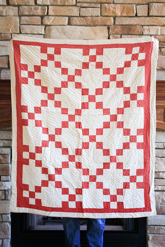 Vintage Red + White Baby Quilt by Jeni Baker