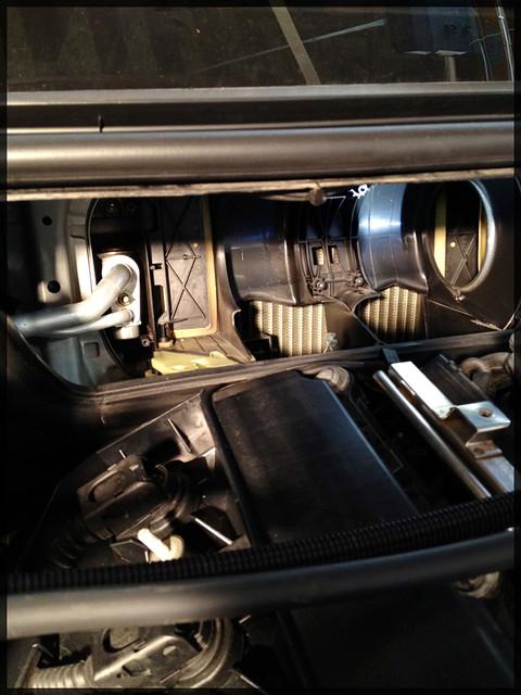 Blower motor opening