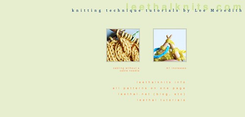 leethal knitting tutorials