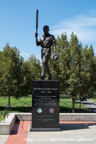 Don Bradman statue at the MCG - Melbourne, Australia, 2014