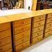Pine slim 5 door cabinet