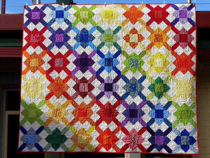 Secret Quilt - finished, quilted, bound