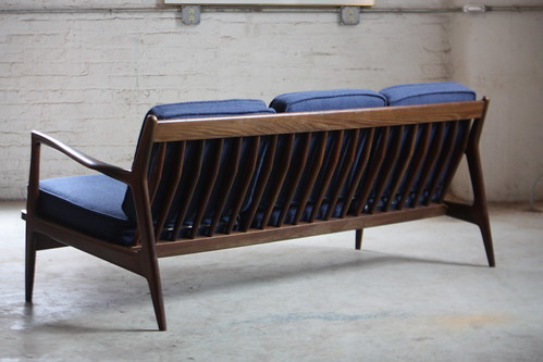 ***ON DECK*** Danish Mid Century Modern Ib Kofod Larsen Sofa of Selig (Denmark, 1960s)