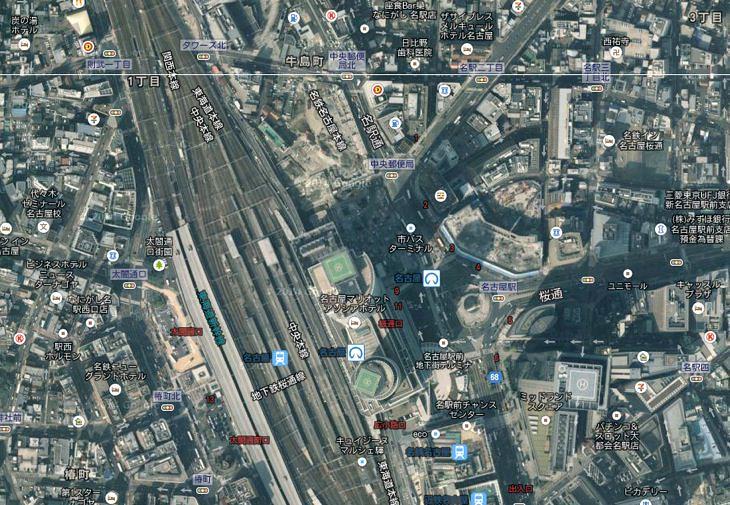 現代の名古屋駅