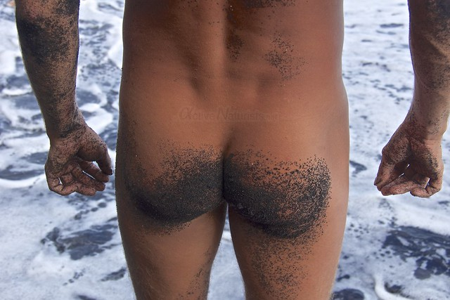 naturist 0005 Kehena black sand beach, Hawaii, USA