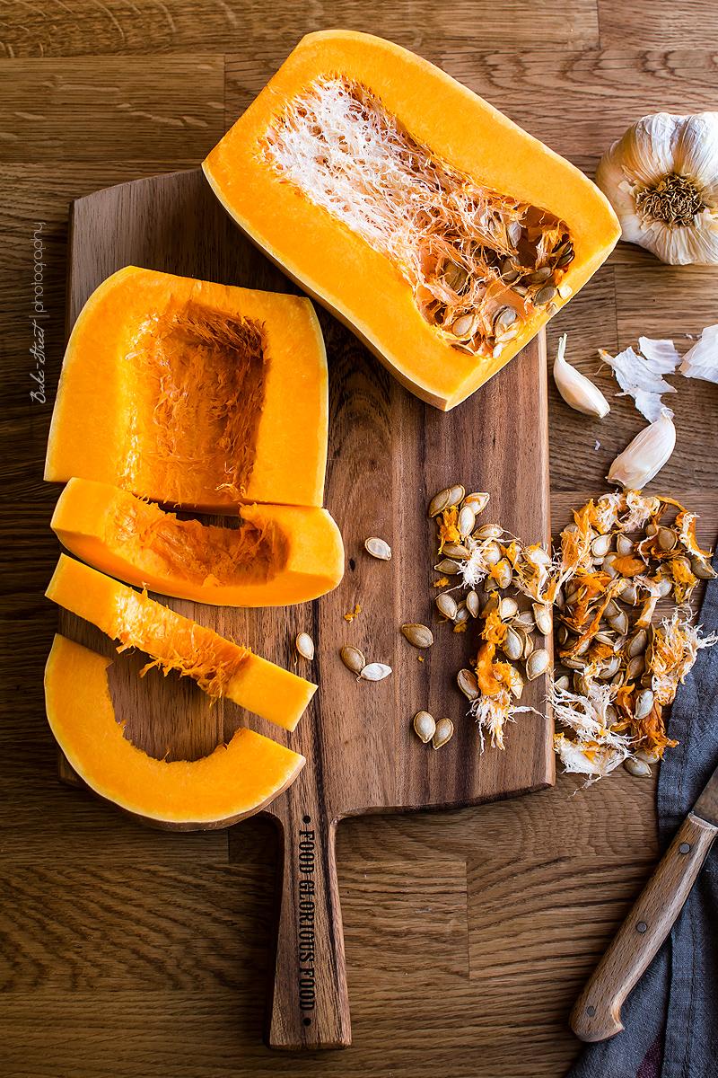 Arroz salvaje con calabaza y tahini de mandarina