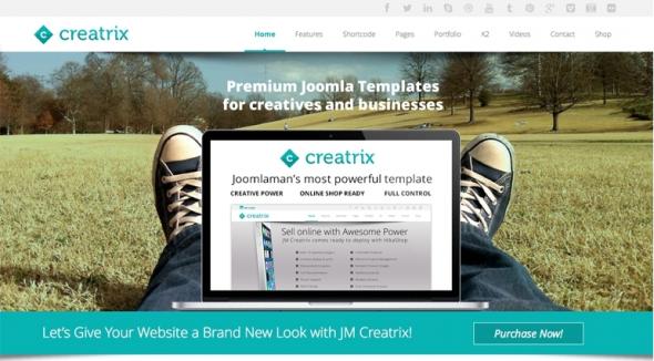 JM Creatrix v2.3 – Joomla 2.5 & 3.4 Template JoomlaMan