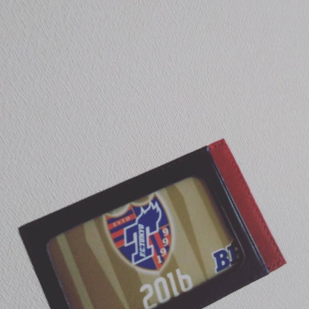 注文していたパスケース届いた! #青赤だったので