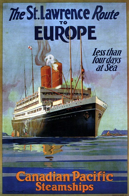 Dudley Ward. The St. Lawrence Route to Europe. 1925