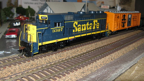 1960's era Santa Fe freight train. by Eddie from Chicago