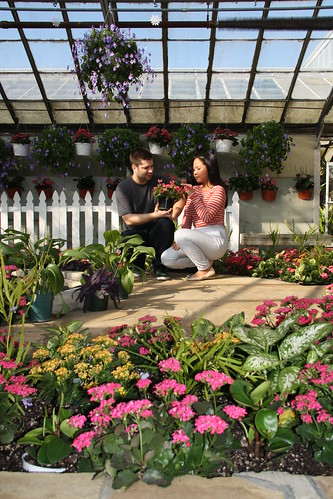 Tommy and Angie at the Greenhouse