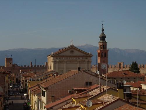 città vista dalle mura Cittadella
