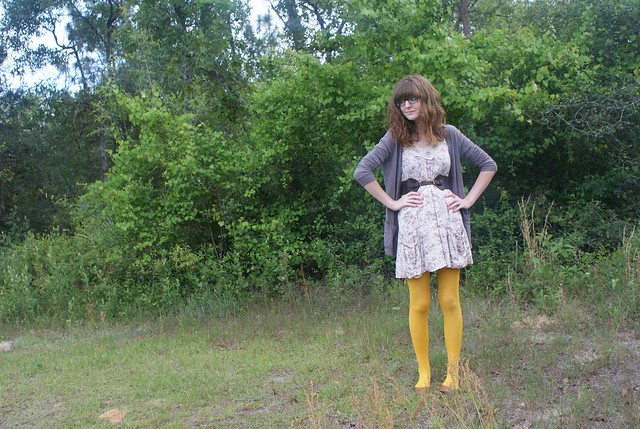 mustard tights one
