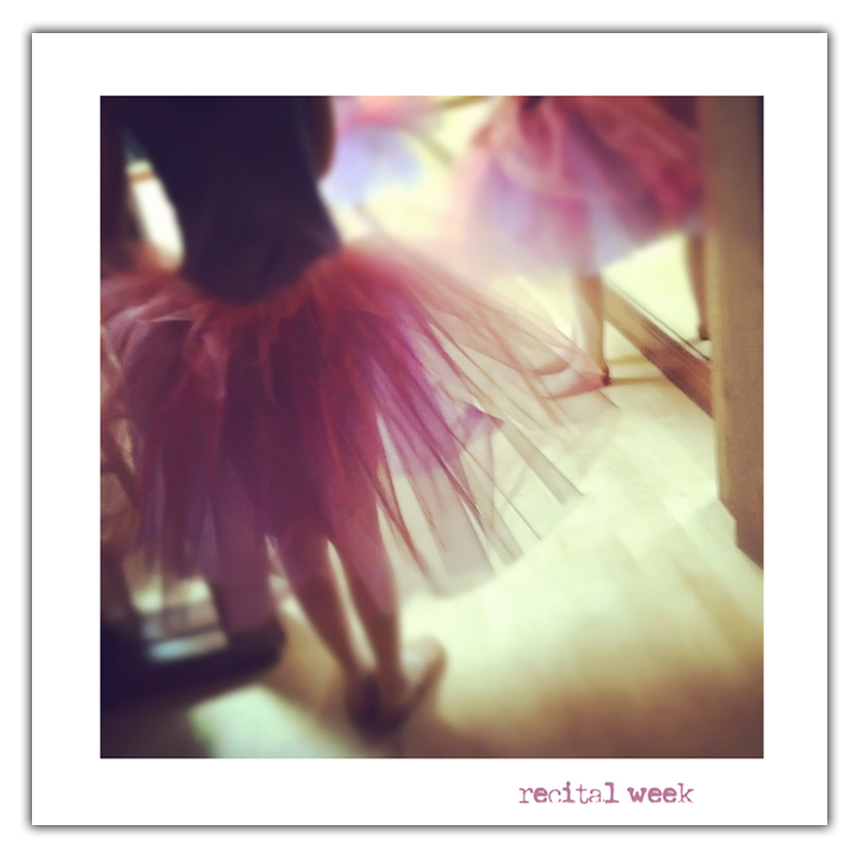 Recital week border image blog