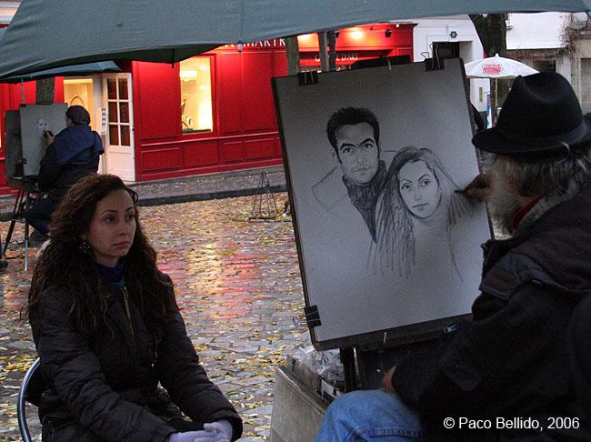 Pintor callejero en Montmartre. © Paco Bellido, 2006