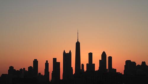 original sky orange chicago silhouette skyline sunrise glow noedit johnhancockbuilding noediting orangeglow noclouds chicagosunrise skylinesunrise