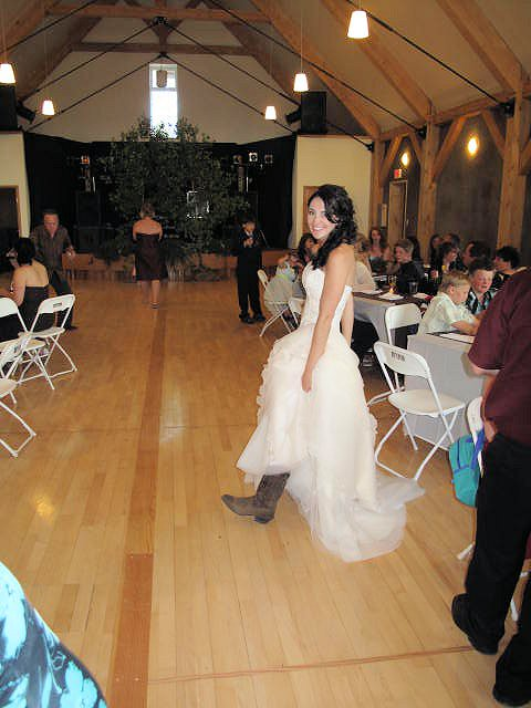 Boots an Wedding Dress